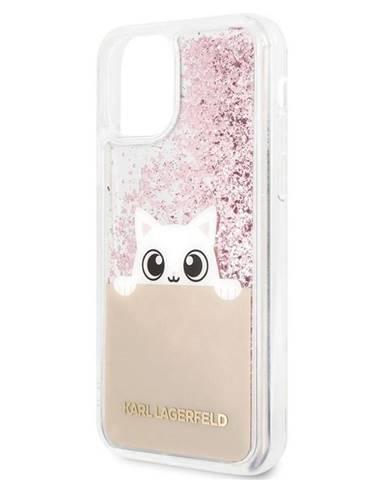 Kryt na mobil Karl Lagerfeld Glitter Peek and Boo na Apple iPhone