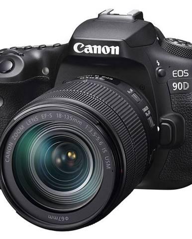 Digitálny fotoaparát Canon EOS 90D + 18-135 IS USM čierny