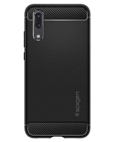 Kryt na mobil Spigen Rugged Armor na Huawei P20 čierny