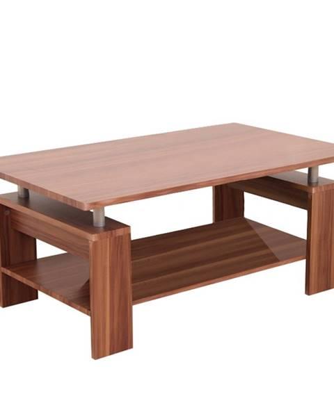 Kondela Konferenčný stolík svetlý orech/strieborná ROKO