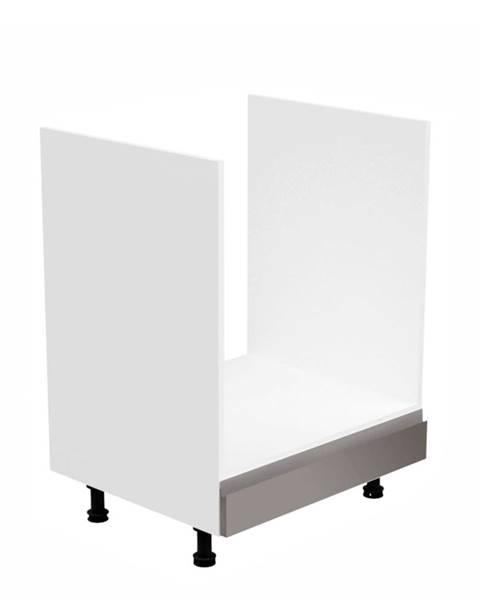 Tempo Kondela Skrinka na spotrebiče biela/sivá extra vysoký lesk AURORA D60ZK