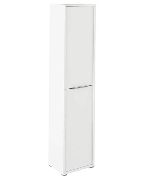 Tempo Kondela Vysoká skriňa s policami biela RIOMA TYP 06