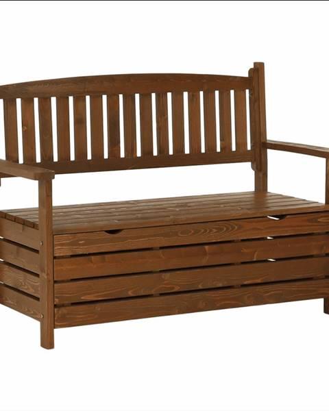 Kondela Záhradná lavička hnedá 124cm DILKA