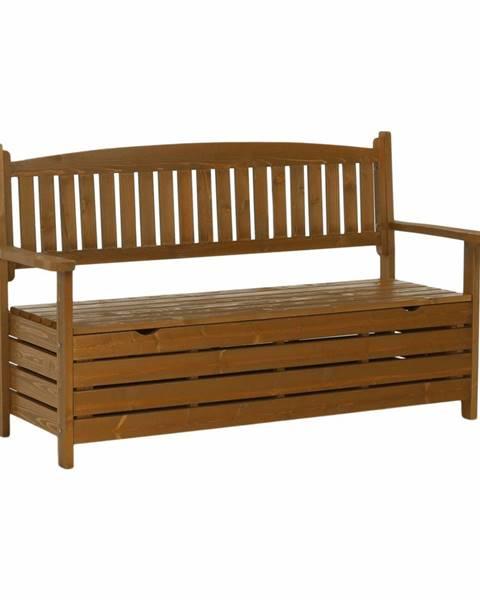 Tempo Kondela Záhradná lavička hnedá 150cm AMULA