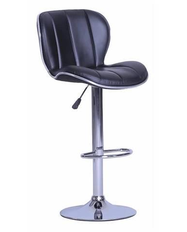 Barová stolička čierna/chrómovaná DUENA