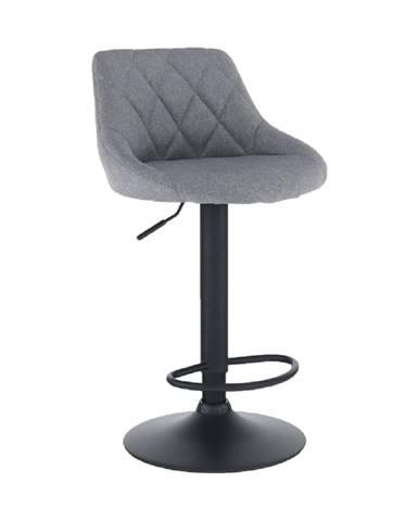 Barová stolička látka sivá/čierna TERKAN