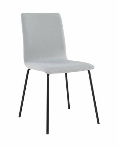 Jedálenská stolička svetlosivá/čierna RENITA