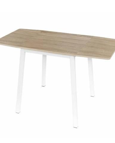Jedálenský stôl MDF fóliovaná/kov dub sonoma/biela MAURO
