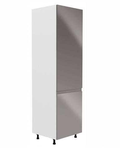 Potravinová skrinka biela/sivá extra vysoký lesk pravá AURORA D60R
