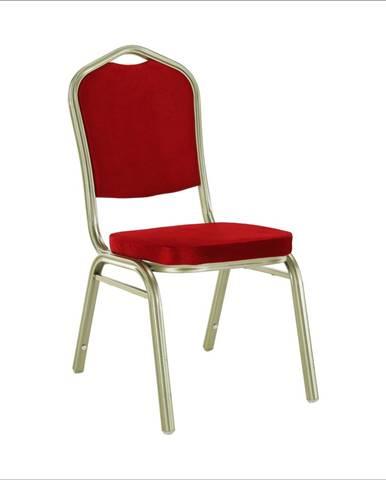 Stohovateľná stolička bordová/champagne ZINA 2 NEW