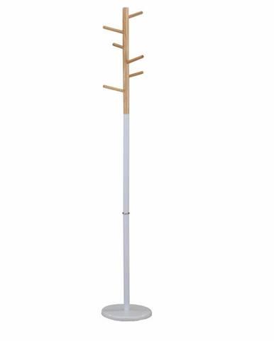 Vešiak drevo prírodné/kov biely HORST