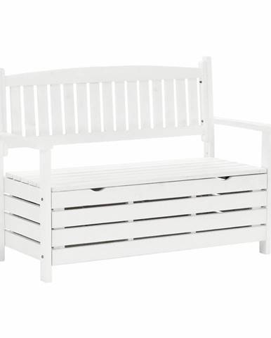 Záhradná lavička biela 124cm DILKA