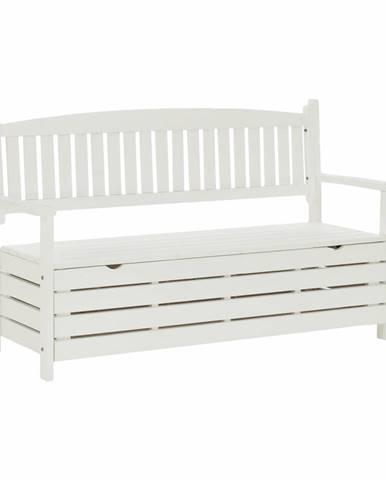 Záhradná lavička biela 150cm AMULA