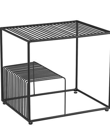 Príručný stolík čierna/kov WILOV