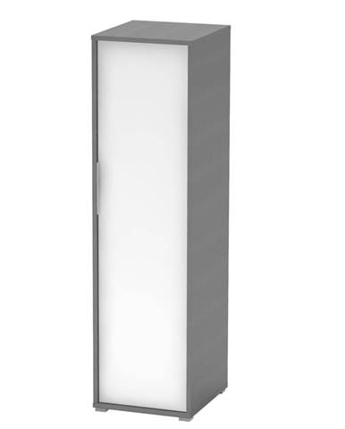 Vešiaková skriňa grafit/biela RIOMA TYP 20