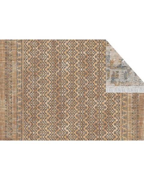 Tempo Kondela Obojstranný koberec vzor/ hnedá 120x180 MADALA