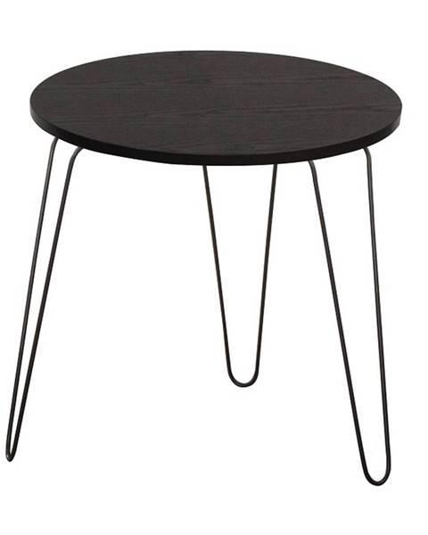 Kondela Príručný stolík čierny dub/čierna RONIN