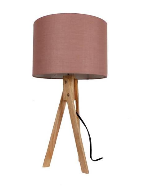 Tempo Kondela Stolná lampa taupe hnedá/prírodné drevo LILA TYP 3 LS2002