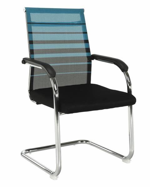 Tempo Kondela Zasadacia stolička modrá/čierna ESIN