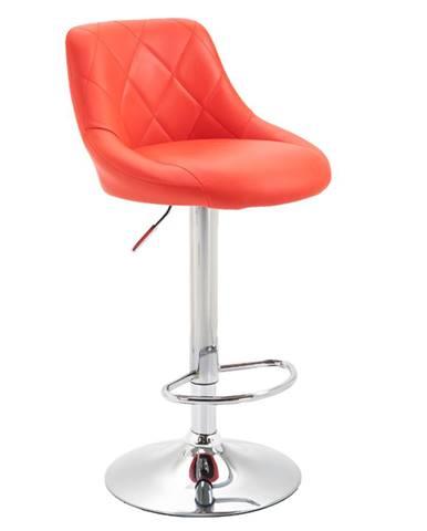 Barová stolička červená/chrómová MARID