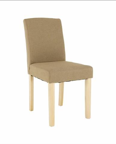 Jedálenská stolička béžová/buk SELUNA
