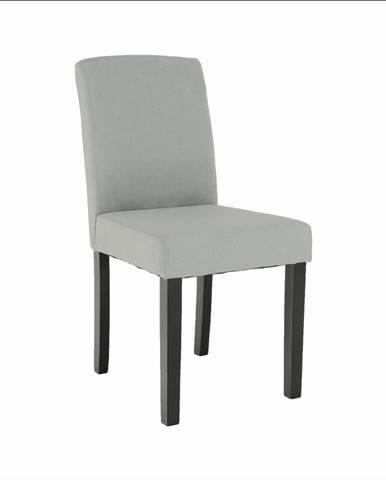 Jedálenská stolička svetlosivá/čierna SELUNA
