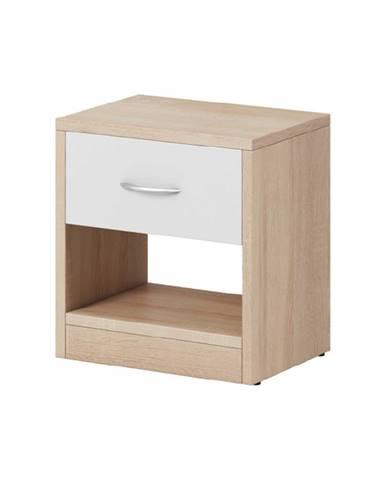 Nočný stolík dub sonoma/biela matná NEA