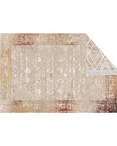 Obojstranný koberec béžová/vzor 180x270 NESRIN