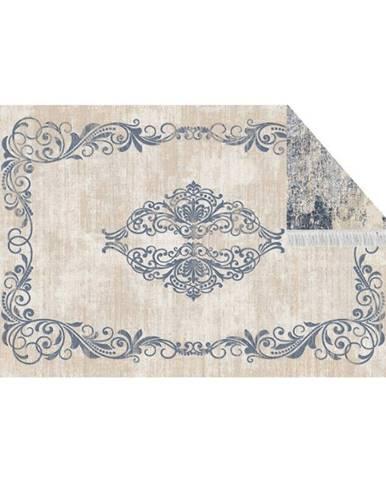 Obojstranný koberec vzor/modrá 160x230 GAZAN