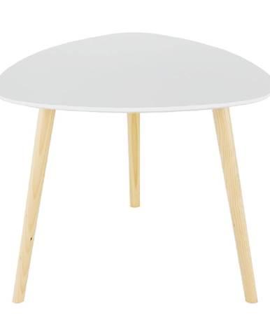 Príručný stolík biela/drevo natural TAVAS