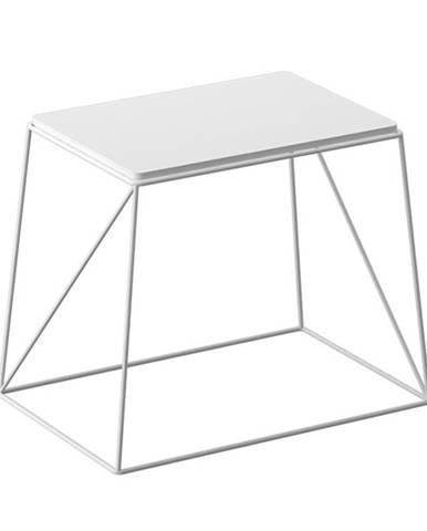 Príručný stolík biela KAREL poškodený tovar