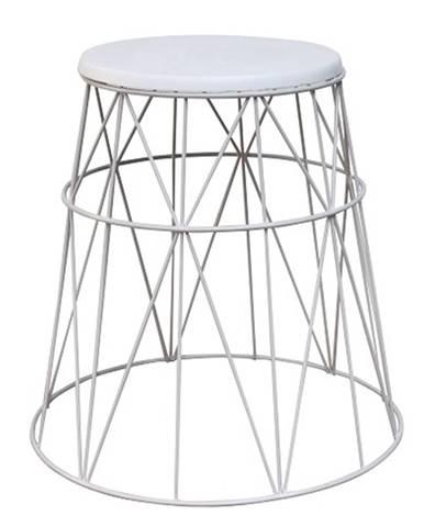 Príručný stolík biela LAVON