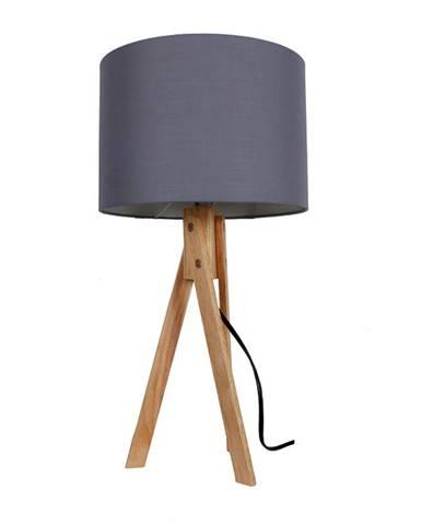 Stolná lampa sivá/prírodné drevo LILA TYP 2 LS2002