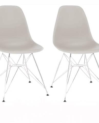 2 kusy stolička teplá sivá ANISA 2 NEW