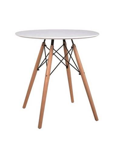 Jedálenský stôl  biela/buk GAMIN NEW 60