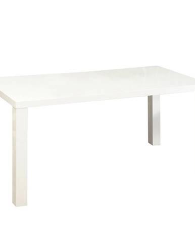 Jedálenský stôl rozkladací biela vysoký lesk HG ASPER NEW TYP 1