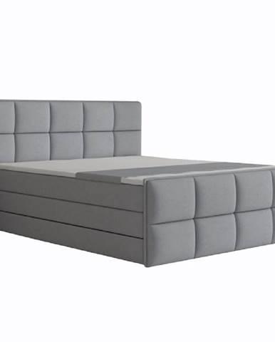 Komfortná posteľ sivá látka 180x200 RAVENA MEGAKOMFORT