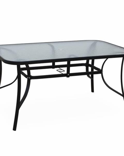 Tempo Kondela Jedálenský stôl tvrdené sklo/oceľ PASTER