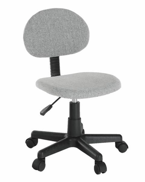 Kondela Kancelárska stolička čierna/sivá SALIM