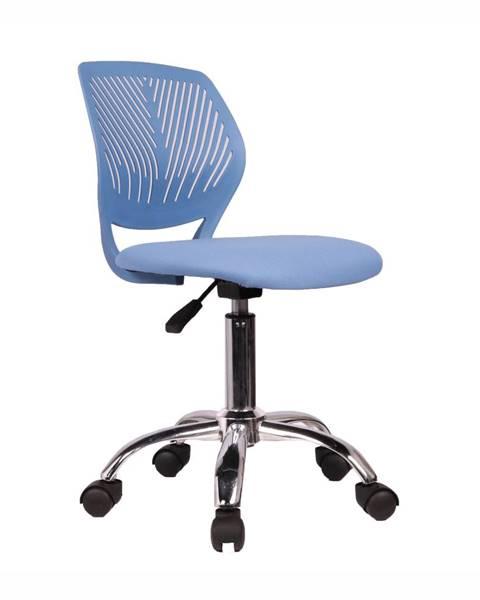 Tempo Kondela Otočná stolička modrá/chróm SELVA