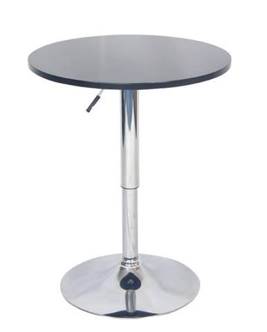 Barový stôl s nastaviteľnou výškou čierna BRANY NEW