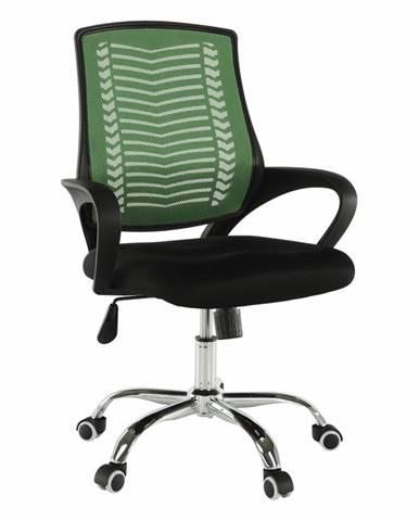 Kancelárske kreslo zelená/čierna/chróm IMELA TYP 2