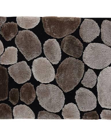 Koberec hnedá/čierna 80x150 PEBBLE TYP 2