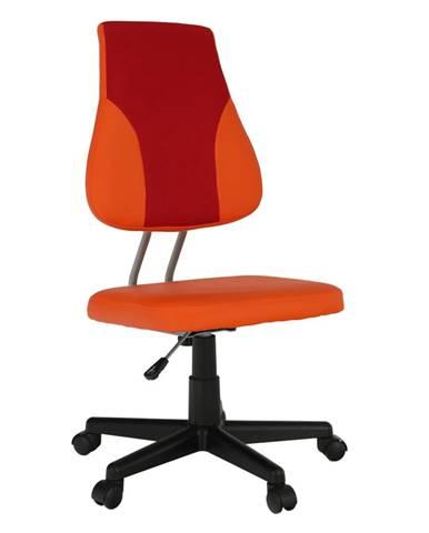 Otočná rastúca stolička oranžová/červená RANDAL