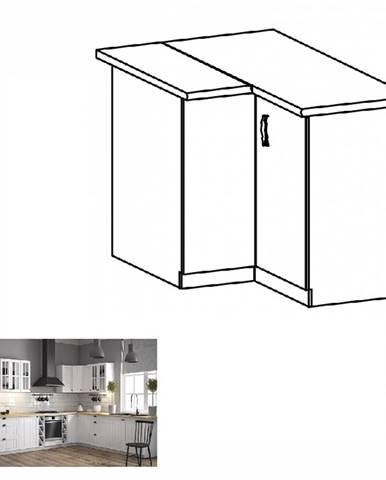 Spodná rohová skrinka D90N biela/sosna andersen PROVANCE