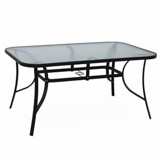 Jedálenský stôl tvrdené sklo/oceľ PASTER