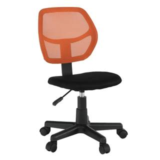 Otočná stolička oranžová/čierna MESH