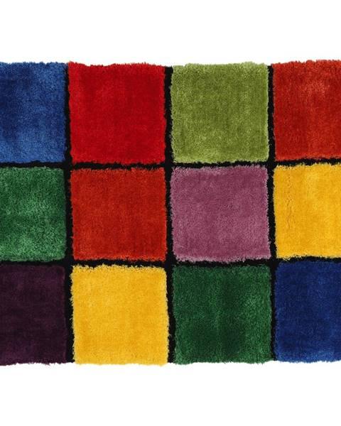 Tempo Kondela Koberec červená/zelená/žltá/fialová 100x140 LUDVIG TYP 4