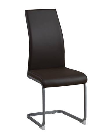 Jedálenská stolička tmavohnedá/sivá NOBATA