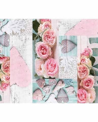 Koberec vzor ruže viacfarebný 120x180 SONIL TYP 2